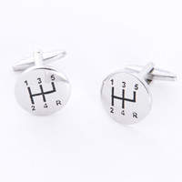 Dashing Cuff Links with Personalized Case - Stick Shift