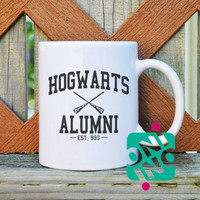 Hogwarts Alumni Harry Potter Coffee Mug, Ceramic Mug, Unique Coffee Mug Gift Coffee