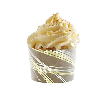 2 1/3 x 1 3/4 Swirl Translucent Bake Cup/Case of 300