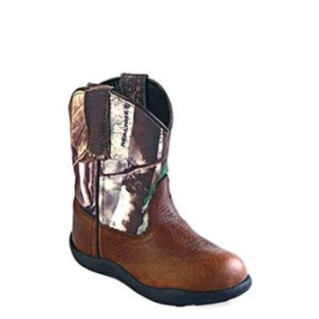 Old West Toddler's Tubbies Camo & Leather Boots