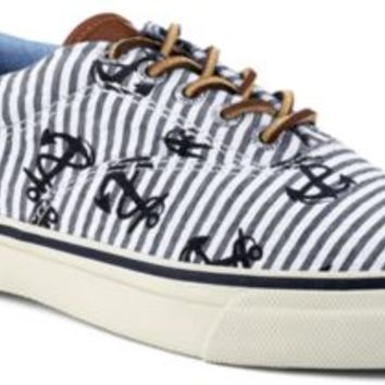 Sperry Top-Sider Striper CVO Seersucker Sneaker SeersuckerAnchors, Size 8M  Men's Shoes