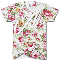Vibe floral all over print t shirt