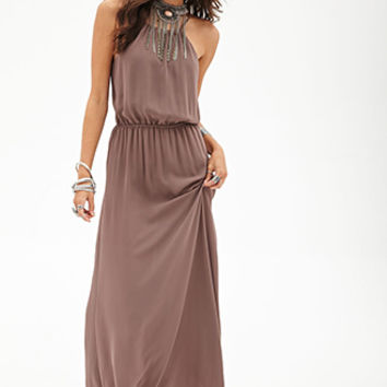 Cutout Woven Maxi Dress