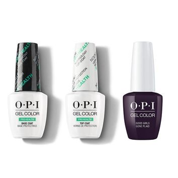OPI - GelColor Combo - Base, Top & Good Girls Gone Plaid