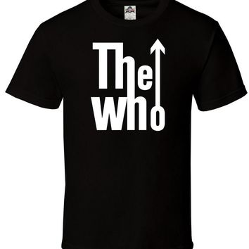 The Who Black Shirt Logo Rock Band English Classic All Sizes S-2XL 100% Cotton