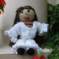 "Christine Doll from Phantom of the Opera, Hand Knitted, approx. 11"" Tall"