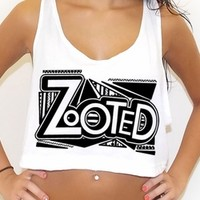 Zooted EDM inspired crop tank top