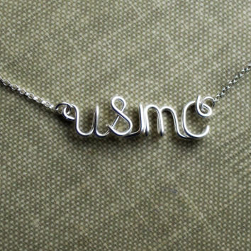 Military Pride Jewelry Sterling Silver Necklace Military Wives USAF USMC Navy USCG Army Wives GirlFriends Fiances Military Spouse