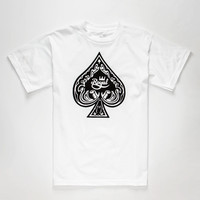 Royal Spade Mens T-Shirt White  In Sizes