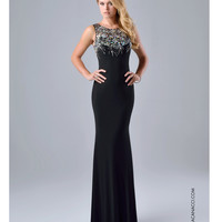 Nina Canacci 8038 Fitted Black Embellished Gown 2015 Prom Dresses