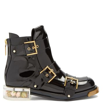 Buckle-fastening ankle boots | Alexander McQueen | MATCHESFASHION.COM US