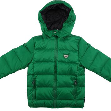 Armani Boys Green Puffer Jacket