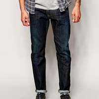Jack & Jones Distressed Jeans In Tapered Fit
