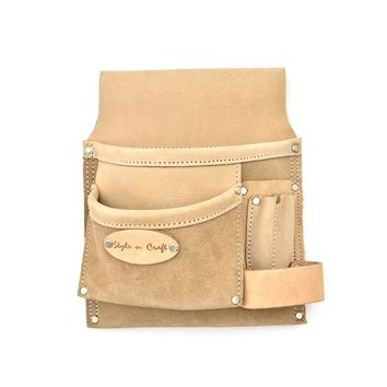 92826-5 Pocket Nail & Tool Pouch in Top Grain Leather | Style n Craft