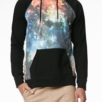 On The Byas Orion Cosmic Sublimated Hoodie - Mens Shirt - Black