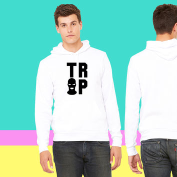 Trap House mask_ sweatshirt hoodiee