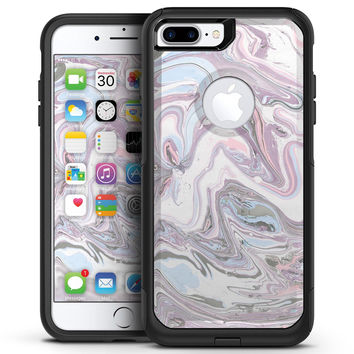 Marbleized Swirling Soft Purple - iPhone 7 or 7 Plus Commuter Case Skin Kit