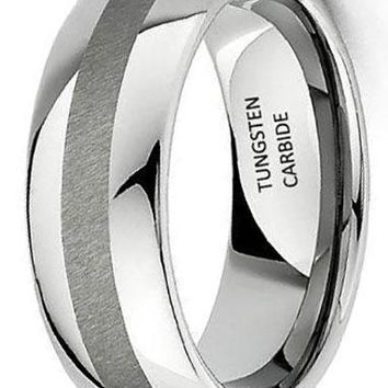 CERTIFIED 8mm Men's Tungsten Wedding Band