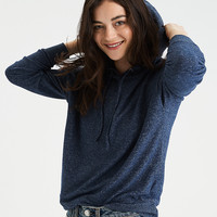 AE Soft & Sexy Plush Slouchy Hoodie, Navy