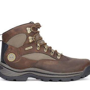 Timberland Mens Mid Boots Chocoura Trail Gore-Tex Brown/Green 15130
