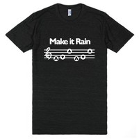 Make it Rain-Unisex Athletic Black T-Shirt