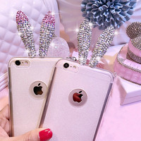 Diamond Bunny Ears iPhone 6 Case - Pink or White