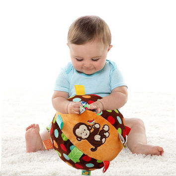 baby Taggies toys bell cloth ball Early Education teddy Developmental Soft Stuffed Plush Toys bed Rattles