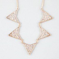 Full Tilt Rhinestone Triangle Statement Necklace Gold One Size For Women 24614762101