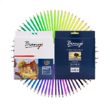 72 Colored Pencils Pack Adult Coloring Set Professional Color Pencils Pencil Adult Colouring Set Gift Box for Artist and Adults Paint Kits