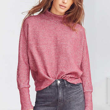Out From Under Amelia Striped Mock Neck Top | Urban Outfitters