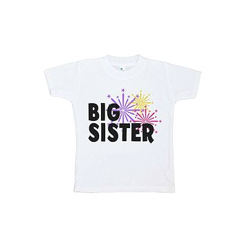Custom Party Shop Kids Big Sister Happy New Year T-shirt