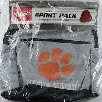 Official Logo Chair Inc. Drawstring Backpack College Bag Clemson University NEW