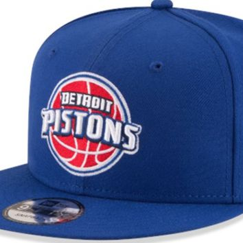 Men's Detroit Pistons New Era Royal On The Court 9FIFTY Hat