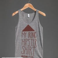 My Ironic Hipster Shirt (Before it was cool)-Athletic Grey Tank