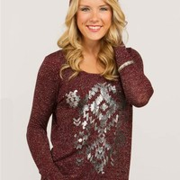 Hint Aztec Graphic Sweater