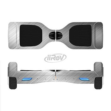 The Silver Brushed Aluminum Surface Full-Body Skin Set for the Smart Drifting SuperCharged iiRov HoverBoard