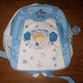 KIM POSSIBLE Sport youth backpack Cheerleader Disney w/ stars TV cartoon pom-pom