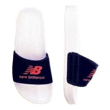 ONETOW new balance fashion casual all match shoes slippers b psxy black red logo