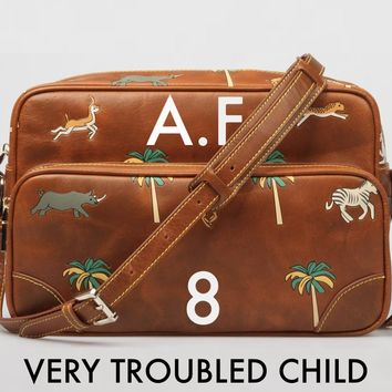 The Travel Bag inspired by Wes Anderson's The Darjeeling Limited movie. Made of 100% genuine leather, can be personalized with your initials.