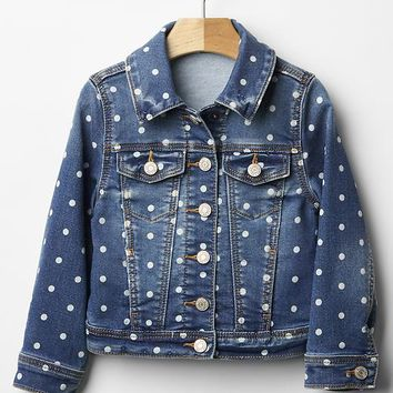 Gap Baby Dot Knit Denim Jacket