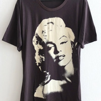 Marilyn Monroe Pop Art Film Rock Icon T-Shirt L