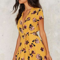 Jordi Floral Wrap Dress