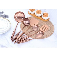 1 pcs Cookingware Stainless Steel Rose Gold Kitchen Cooking Tool High-grade Kitchen Utensils Multifunction Kitchen Accessories