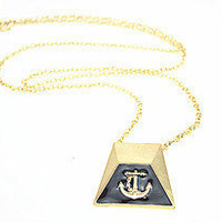Gold Anchor Necklace, Sweater Necklace, Black Anchor, Pink Anchor, Personalized Bridesmaids Jewelries, Trending Accessories