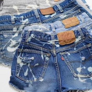 Mystery DISTRESSED Bleached High Waisted Shorts, All Sizes & Plus!
