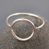 Silver jewelry, silver circle ring, Infinity circle ring, engagement rings