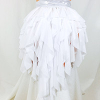 White Cascade Skirt / performance / dance wear competition / drag queen / burning man