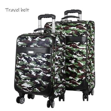 Camouflage outdoor High quality Rolling Carry On Luggage Spinner 20/24 inch Business Suitcase Wheels