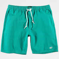 Obey Keble Teal Denim Shorts | Zumiez