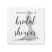 Chic Hand Lettered Bridal Shower Disposable Napkin
